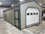 14x36 Cottage Shed with Overhead Do