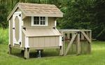 3' x 4' Tractor Quaker Coop with wheels