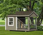4' x 8' Dog Kennel Traditional (1 Dog)Vinyl siding add 10%