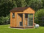 6' x 8' Dog Kennel Traditional (1 Dog)Vinyl siding add 10%