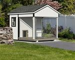 8' x 10' Dog Kennel Traditional (1 Dog)Vinyl siding add 10%