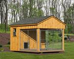 8' x 12' Dog Kennel Traditional (1 Dog)Vinyl siding add 10%