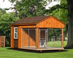 8' x 14' Dog Kennel Traditional (1 Dog) B&B;Vinyl siding add 10%