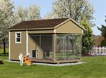 8' x 14' Dog Kennel Traditional (2 Dogs) LP,Vinyl siding add 10%