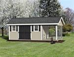8' x 20' Shed / Kennel Combo Elite (1 Dog)