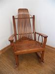 Oak Rocker with flat arms